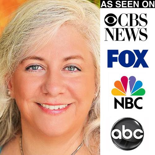 Lynn Scheurell with media logos