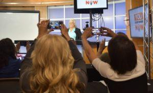 Lynn Scheurell and Audience